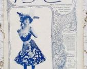 Antique French Art Nouveau Music Hall / Theatre Magazine with Piano Music - Paris Qui Chante (Paris Singing)