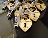 75 Heart and skeleton Key Wedding Favors custom personalized