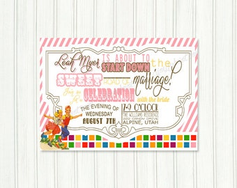 Candyland Printable Party Invitation