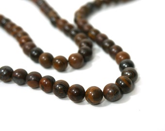 Tiger Iron gemstone beads, 8mm round, full or half strands available   (889S)