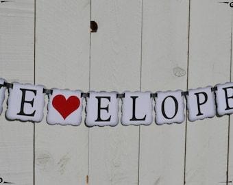 We Eloped   ..  Wedding decoration  ..  Photo Prop  ..  banner  ..   Eloped