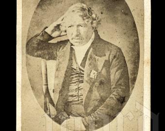 Very Rare CDV Photo of Important Photographer LOUIS DAGUERRE