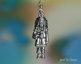 Cigar Store Wooden Indian Charm Sterling Silver Advertising Figurine