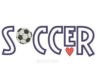 Cute Soccer Machine Embroidery
