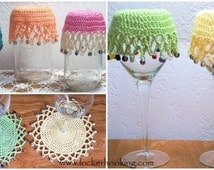 Crochet Beaded Covers & Doilies Pattern-PDF