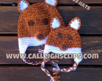 Forest Fox Beanie or Earflap hat