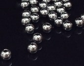 6mm Beads, Stainless Steel Round, 1.5mm Hole, 201 Grade Stainless, Hypoallergenic, Non Tarnish, Lot Size 12 to 100, #1524