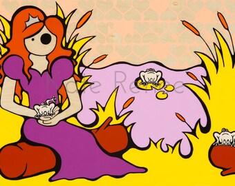 Princess And The Frogg Fine Art Print