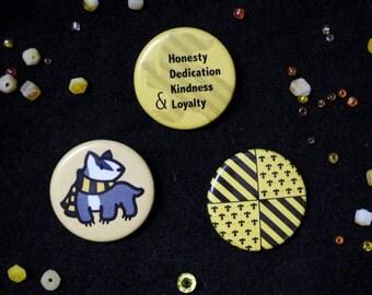 Hufflepuff Button Set