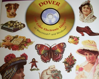 Dover Electronic Clipart Book - Full Color VICTORIAN VIGNETTES