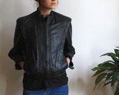 80's Black Leather Rebel Jacket