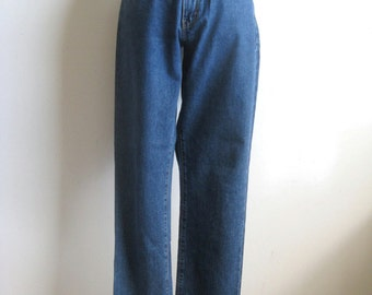 Vintage 1980s Designer Jeans Calvin Klein Blue Cotton Denim Pants 7-32