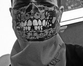 all different COLORED Skull Face Mask with Glow in the Dark Teeth BADNANA