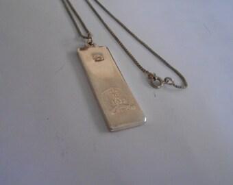 "Vintage pendant, ""1977 The Queen's Silver Jubilee"" sterling pendant, marked ""SJ"" pendant, royal pendant, 925 chain"