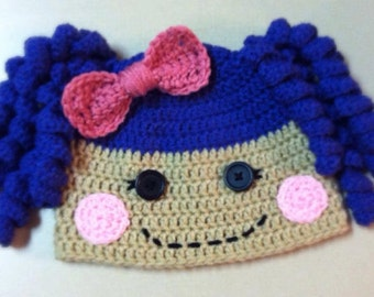 Pattern Lalaloopsy Inspired Beanie Hat *Pattern* Crochet Child Size