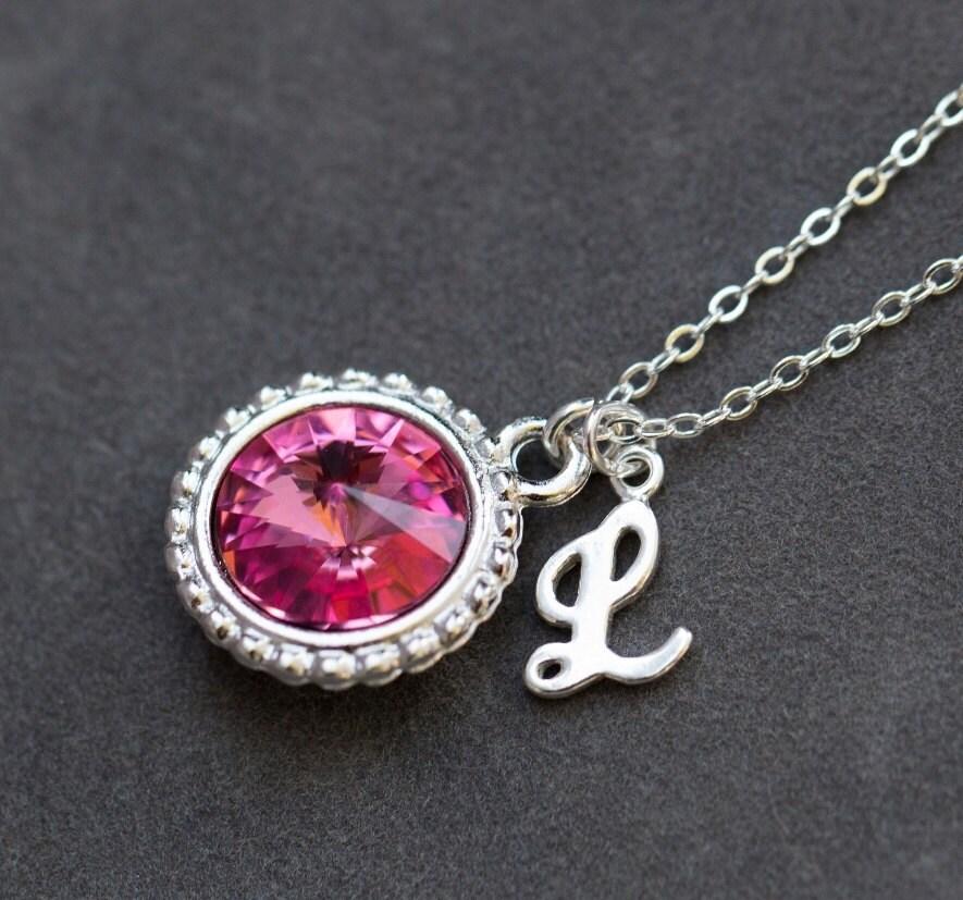pink tourmaline necklace october birthstone jewelry rose. Black Bedroom Furniture Sets. Home Design Ideas