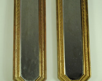 Antique ELEGANT Gold Ornament FRAME Twin Wall Mirrors
