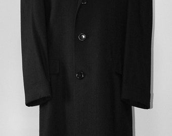 Superb Vintage Mens Wool Top Coat Large