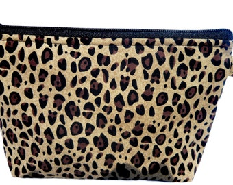 Cheetah Print Makeup Bag