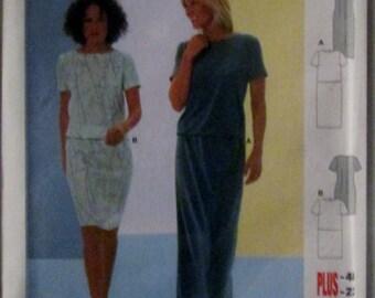 Burda 8986 Women's Dress Plus Size Sewing Pattern Bust 33 to 41