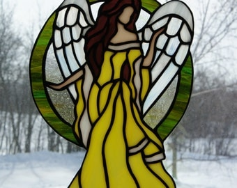 Angel Suncatcher (Yellow)