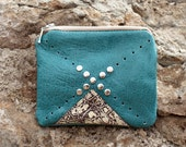Nomad Turquoise Leather Coin Purse No. CP-2001