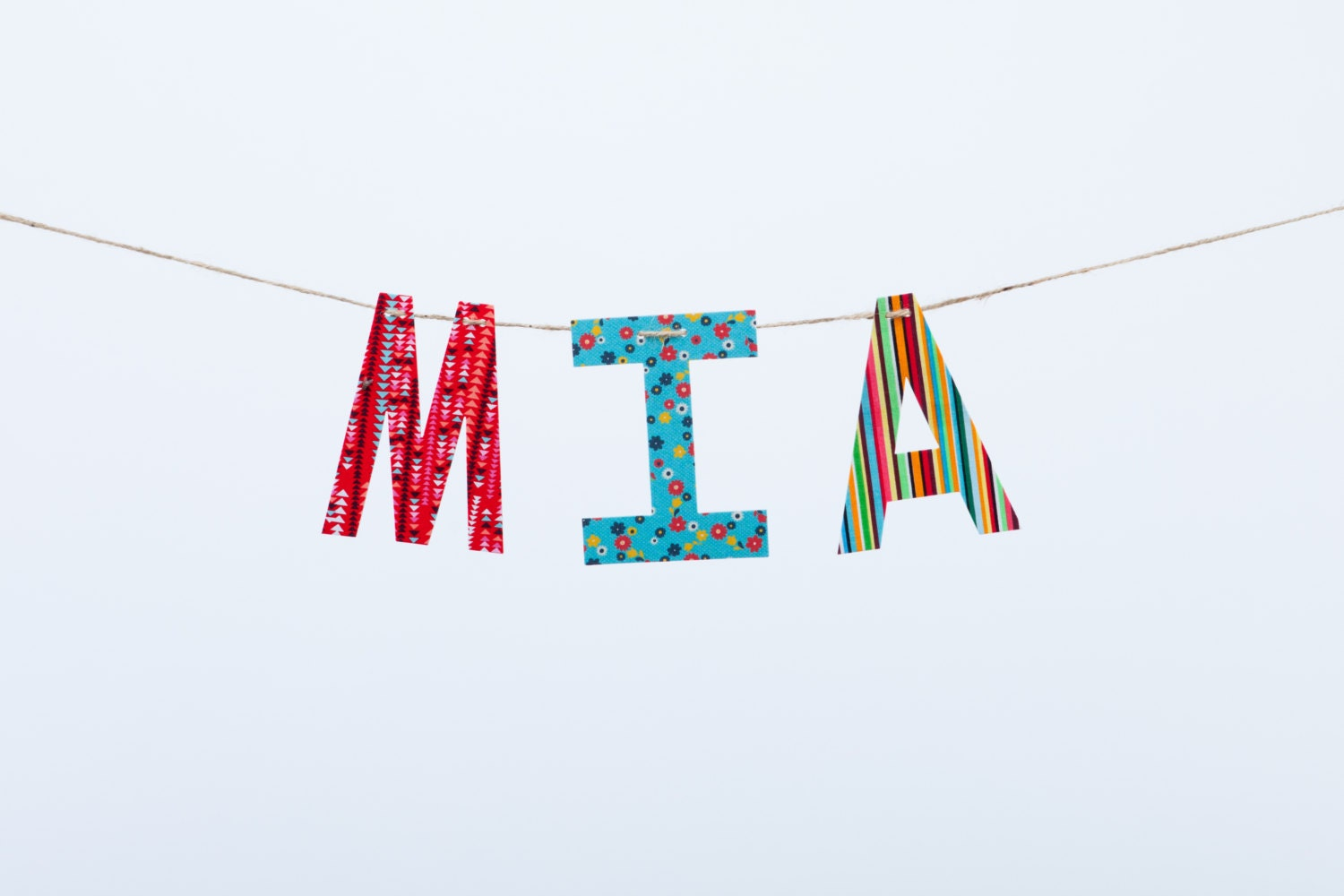 Custom Name Banner ~ Fabric Banner ~ Fabric Letters ~  Photo prop ~ JASMIN Collection