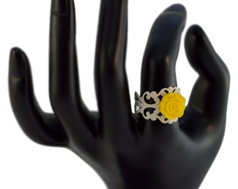 Small Yellow Flower Ring