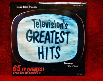 TeeVee Toons Presents...TELEVISION'S GREATEST Hits - 1985 Vintage Vinyl 2 lp Gatefold Record Album