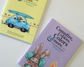 """Illustrated children's poetry books, """"Campfires, Cookies, Colors + More"""" and """"Footprints, Umbrellas, Noodles + More"""" for kids or unique gift"""