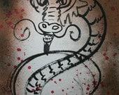 Year of the Dragon II -  Original Sumi Art by Alma Yamazaki 18 x 24