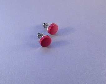 Coral Post Earrings SHIPS IMMEDIATELY Handmade Coral Red Post Earrings