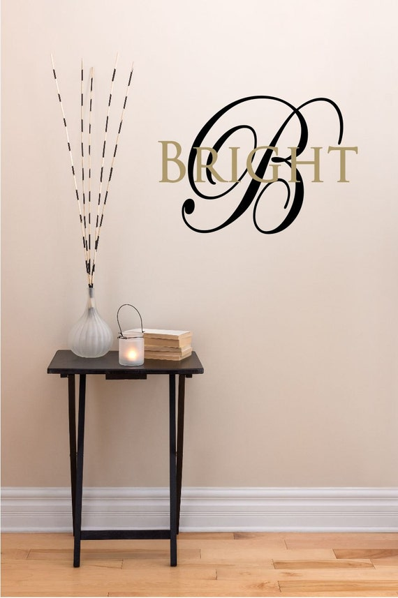 custom last name monogram vinyl decal set family vinyl. Black Bedroom Furniture Sets. Home Design Ideas