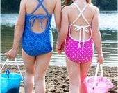 Nantucket One-Piece: Girls Swimsuit Pattern, Baby Swimsuit Pattern, One Piece Swimsuit Pattern