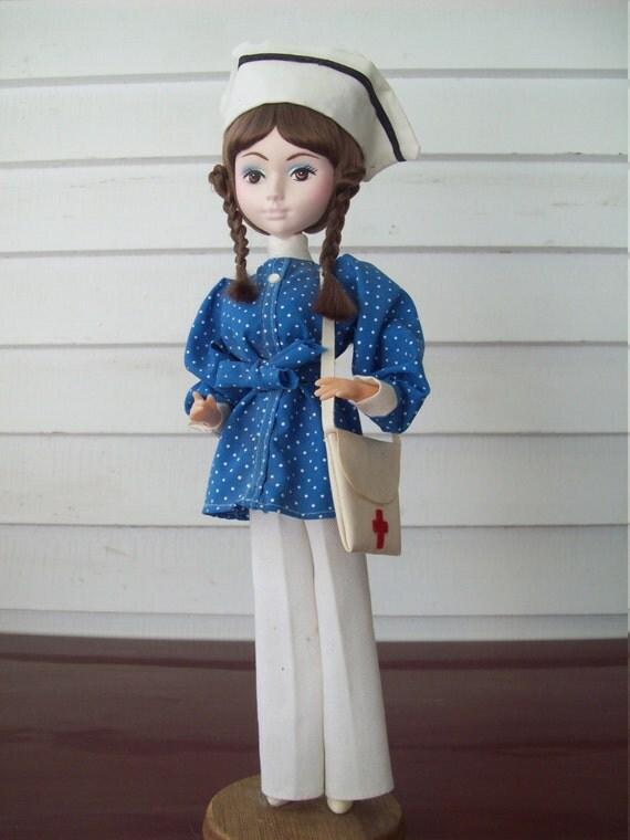 Vintage Bradley Doll Nurse Kawai By Maryalicefeltlikeit On