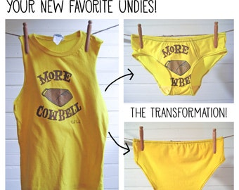 Custom Underwear From Your Old Favorite Tshirt - Boy-Cut - Made to Order