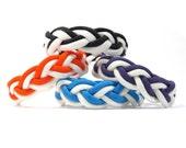 White Stripe, Turks Head Sailor's Paracord Rope Bracelet, Nantucket Surf Beach, Traditional Nautical, Double Braid, Ship Knot, Summer