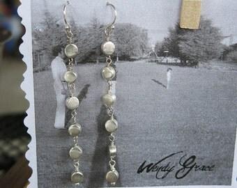 Long Dangle Sterling Silver Earrings Modern Simple Versatile