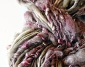 Super Bulky Yarn Mauve, Taupe, Grey, Handspun, hand painted wool, silk, warm, soft, knitting supplies, crochet supplies