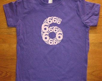 Birthday Shirt - 6 year old shirt - 6th Birthday - Number Shirt - Birthday Boy, Birthday Girl - Party - Kids Tshirt Size 8 - Gift Friendly