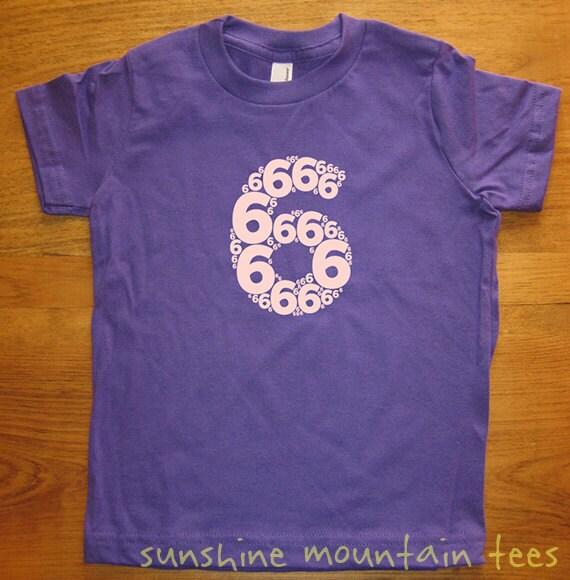 Birthday Shirt 6 Year Old Shirt 6th Birthday Number