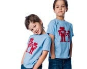 Big Brother and Little Brother T-Shirts or Infant Bodysuit - Robot Big Bro Lil Bro Gift Set (2 shirts) - Matching Sibling Shirts