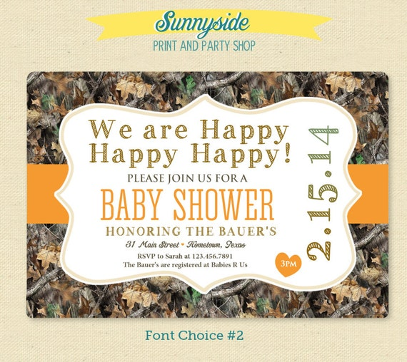camo camouflage baby shower invitation printable invite duck