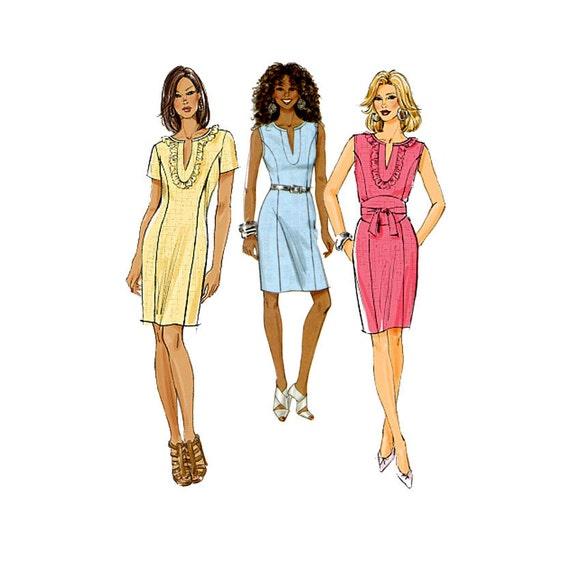 sheath dress pattern butterick b5638 princess seam by