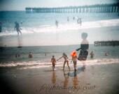 Holga Photography, Coney Island Beach, Double Exposure, Summer Photography, Photography Print