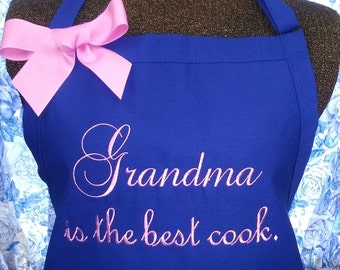 Personalized Apron Grandma is the best cook