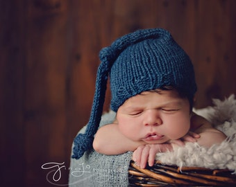 KNITTING PATTERN ONLY - Newborn Long Stocking Hat