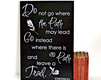 Ralph Waldo Emerson Wood Sign Emerson Inspirational Quote  Wood Sign Emerson Quote