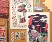 4 x Masquerade Postcards