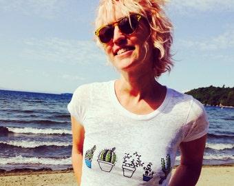 not so needy Cactus Tshirt, Yoga Tee, Burnout Tshirt, S,M,L,XL